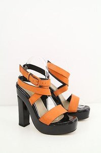 Missoni Tan Black Patent Multi-Color Platforms