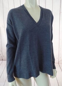 J.Crew Gray Lightweight Merino Wool Hem Hot Sweater