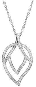 Piaget Piaget 18K White Gold Diamond Leaf Necklace G33U0025