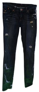 Rock & Republic Berlin Skull Skinny Jeans-Distressed