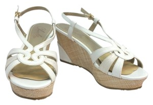 Charles David Wedges WHITE Sandals