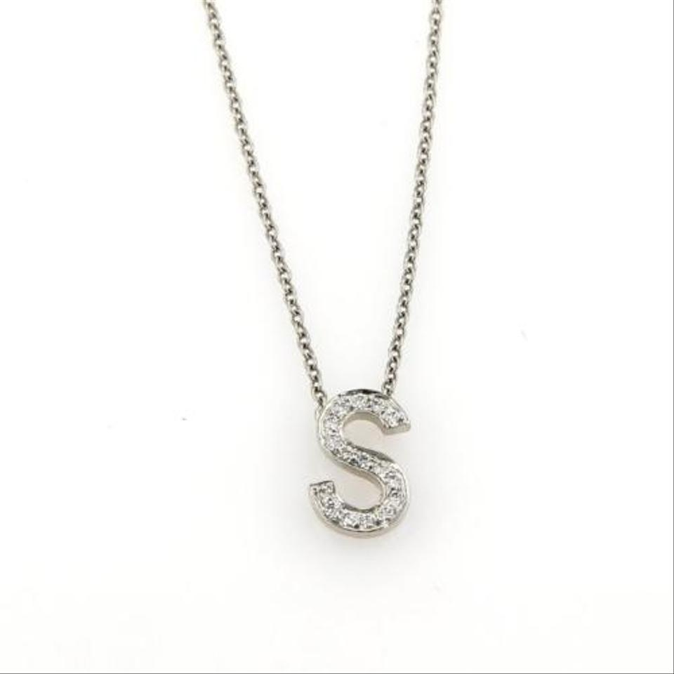 65023a844 Tiffany & Co. Tiffany Co. Diamonds Platinum Letter S Pendant Chain Necklace  Image 0 ...