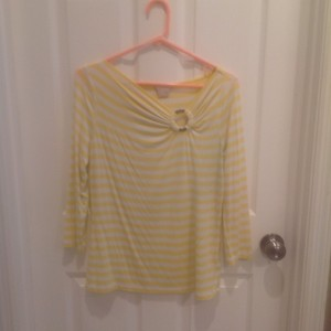 MICHAEL Michael Kors Top Yellow and white stripes
