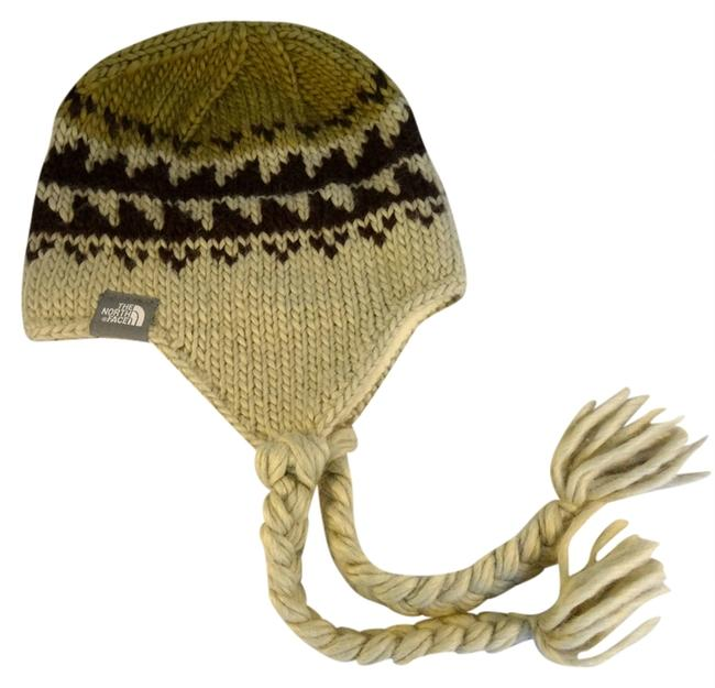 Item - Tan and Dark Brown Pattern Cold Weather Knit Hat