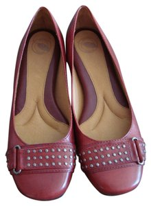 Other Studded Red Flats