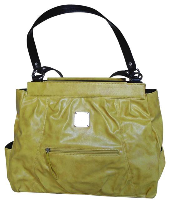 Item - Raye New In Pkg Retired Prima Size Interchangeable Purse Face Yellow Faux Leather Satchel