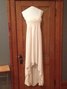 J.Crew Ivory Silk with Polyester Lining Rn77388 Formal Wedding Dress Size 4 (S)