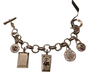 Marc by Marc Jacobs Marc By Marc Jacobs Silver Logo Charm Bracelet