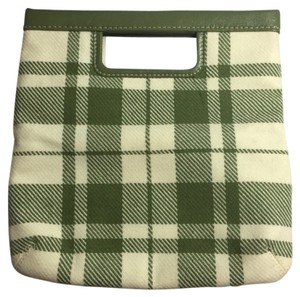 Banana Republic Green & Cream Clutch
