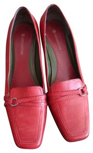 Naturalizer Leather Heels Office Red Pumps