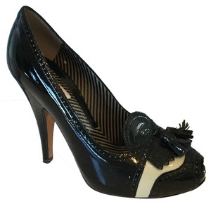Mochino Black patent Leather Pumps