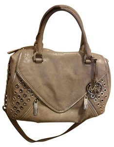 Michael Kors Studded Leather Satchel in Grey