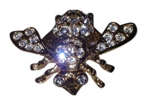Joan Rivers Joan Rivers Rare clear eyes Bee pin brooch Bright Swarovsky Crystals on 14KGP