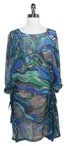 Blumarine Blumarin Blue & Green Silk Coverup