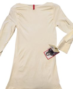 Spanx Ontop And In Control 3/4 Sleeve Boatneck Hard To Find Top Vanilla Beige