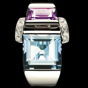 Piaget Piaget 18K White Gold Tapz Crystal Diamond Ring G34J1500 US 6.25