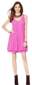 Free People short dress Wild Pink on Tradesy