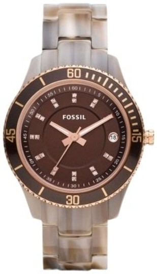 Fossil Fossil Women's ES3090 Stainless Steel Analog Brown Dial Watch