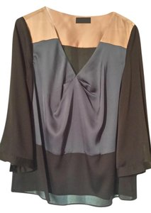 Ann Taylor Chiffon Silk Tunic Top color block