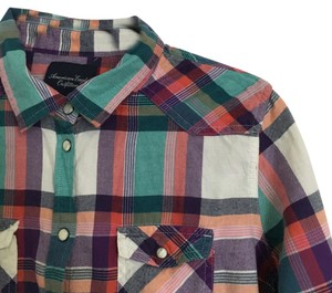 American Eagle Outfitters Button Down Shirt Multi