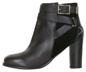 Topshop Harness Buckle Boho Black Boots