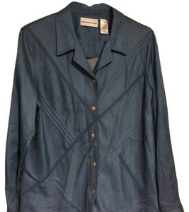 Alfred Dunner Button Down Shirt blue