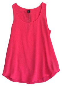 Forever 21 Top Coral with Black exposed zipper