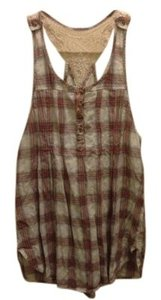 Free People Top Red Plaid