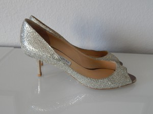 Jimmy Choo Silver Isabel Formal Size US 10.5 Regular (M, B)