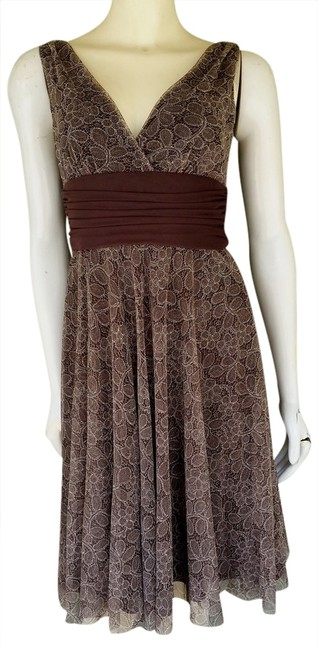 Preload https://item5.tradesy.com/images/london-times-lace-tie-backs-dress-brown-1351079-0-0.jpg?width=400&height=650