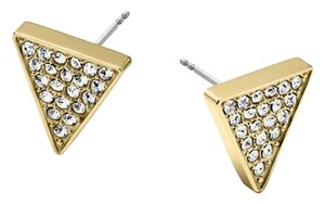 Michael Kors Triangle Pave Crystals Stud Earrings