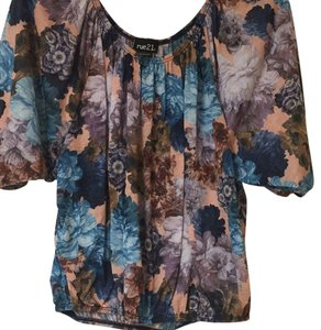 Rue 21 Top Floral with teal & baby blue .. Some navy & peach
