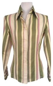 Etro Work Style Button Down Blouse Button Down Shirt Striped