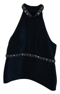 Burberry Usa Size 4 Dryclean Only Black Halter Top