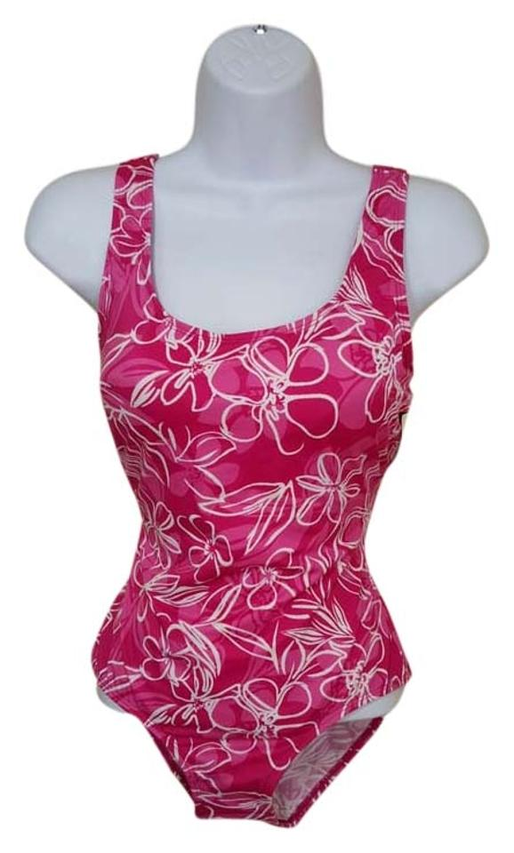 04ef47e30dc9c L.L.Bean L.L.Bean Tank with Soft Cups Floral Print One Piece Swimsuit Size  6 Image ...