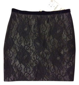 Zara Lace Mini Skirt Black