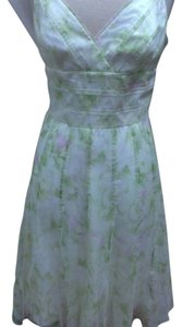 Carmen Marc Valvo Silk Spring Easter Chiffon Floral Dress