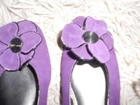 Life Stride Suede With Flower Deep Purple Flats