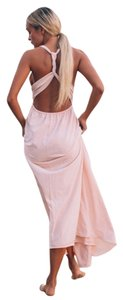 Blush/Beige Maxi Dress by SABO SKIRT Racer-back