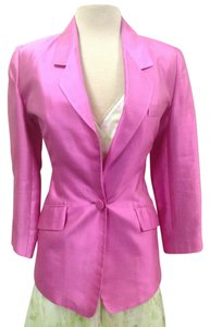 Ellen Tracy Satin Silk Easter Pink Blazer