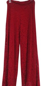 L & B Flare Pants crimson red