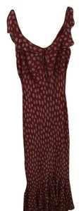 Georgiou Sudio Red with beige polkodot Maxi Dress by Georgiou Studio Dryclean Only