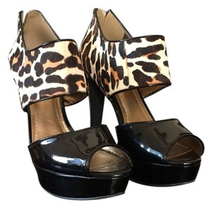 BCBGeneration Black, multi, animal print Platforms