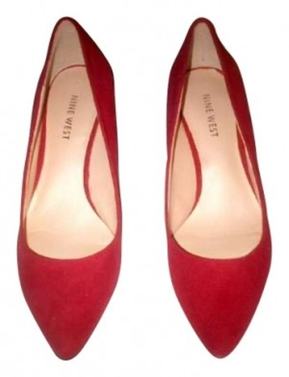Nine West Red Suede Pumps