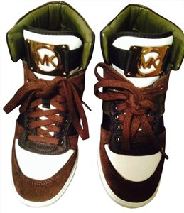 Michael Kors Brown/Army Green/White Athletic