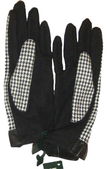 Item - Black & White Houndstooth Gloves Size Small
