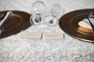 Ivory/White 15 Rosette-fabric Table Overlays Tablecloth