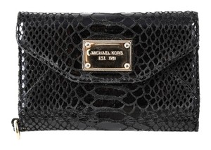 Michael Kors * Michael Kors Wallet Clutch Black Python Case for iPhone