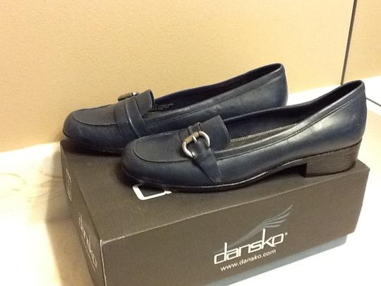 Life Stride Silver Buckle Comfortable Professional Office Blue Pumps