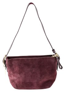 Coach Suede/leather Mini Shoulder Bag